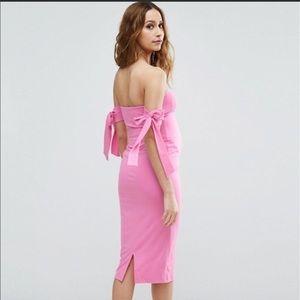 7d0598e1f56 ASOS Maternity Dresses - ASOS hot pink bow maternity dress